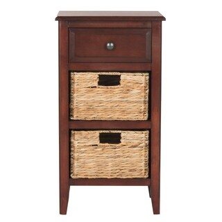 Safavieh Everly Cherry Drawer Storage Side Table