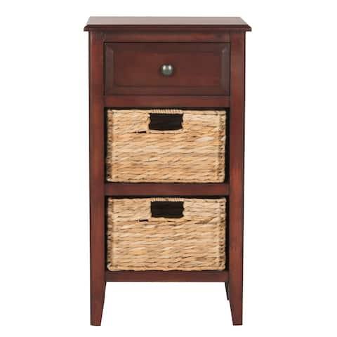 "SAFAVIEH Everly Cherry Drawer Storage Side Table - 15"" x 11.8"" x 27.6"""