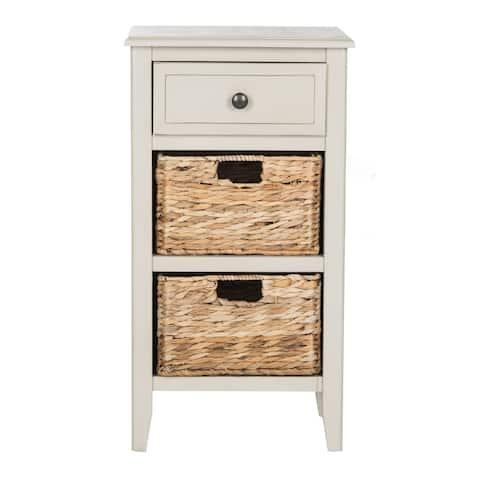 "SAFAVIEH Everly Vintage Grey Drawer Storage Side Table - 15"" x 11.8"" x 27.6"""