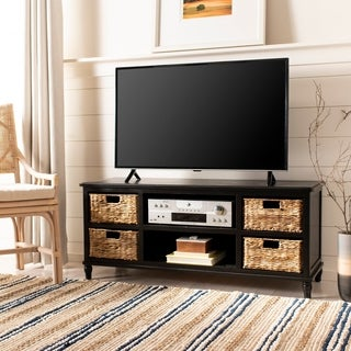 Safavieh Rooney Distressed Black 4-Drawer Storage Entertainment Console