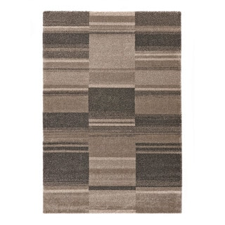 "Somette Crestview Collection Beige Abstract Area Rug (6'7"" x 9'6"")"