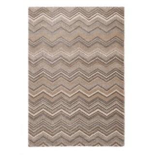 "Somette Crestview Collection Beige Chevron Area Rug (6'7"" x 9'6"")"