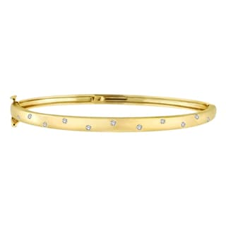 14k Gold 0.15ct Pave-Set Starlight Diamond Bangle Bracelet (G-H, SI1-SI2)