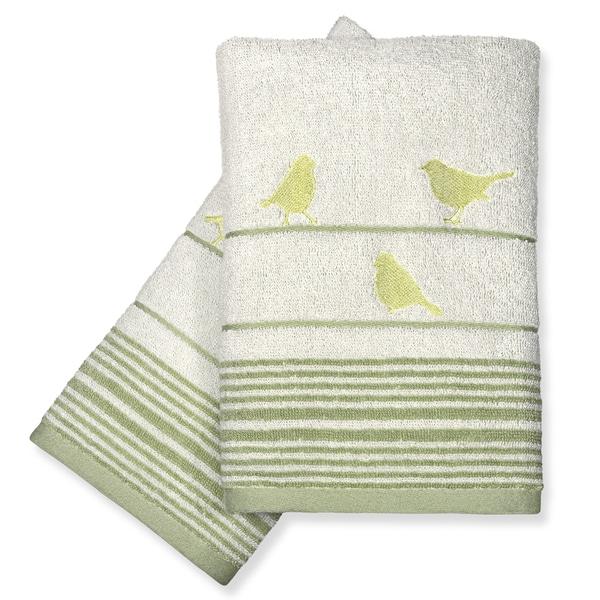 Peri Home Towels: Peri Home Little Birds Fingertip Towels (Set Of 2)