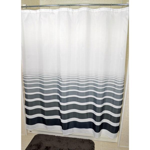 Horizon Fabric Shower Curtain
