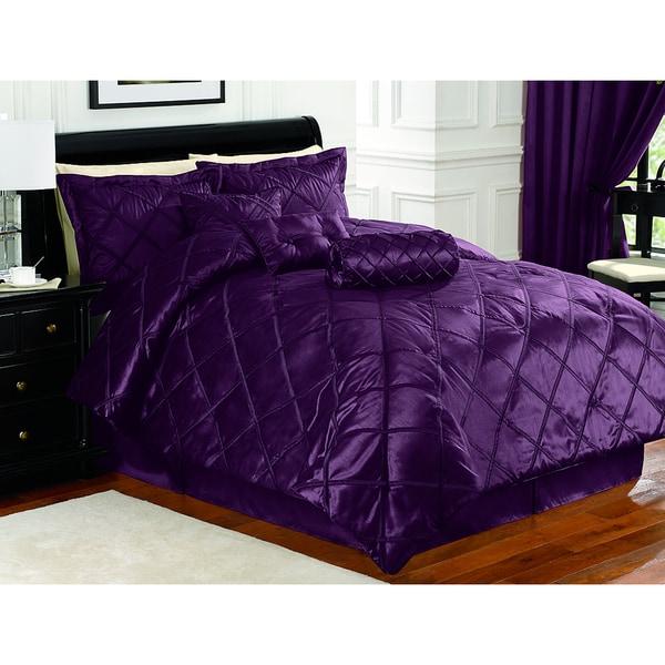 Braxton Plum 7-piece Comforter Set
