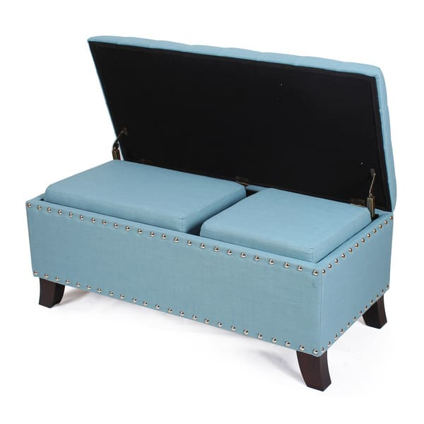 Pleasing Shop Home 3 Piece Lift Top Ottoman Storage Bench Free Ncnpc Chair Design For Home Ncnpcorg