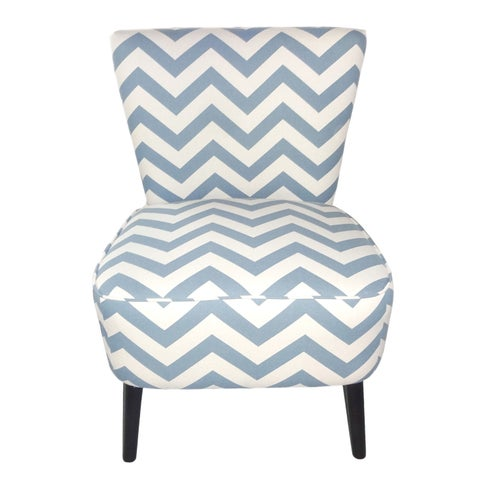 Adeco Eruo Cute Taffy Strip Style Fabric Armless Accent Side Chair
