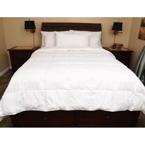 Downia Luxury All Season White Goose Down Comforter (Includes 2 Comforters)