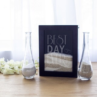 Best Day Ever Black Unity Sand Ceremony Shadowbox Set
