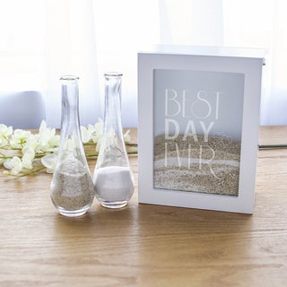 Best Day Ever White Unity Sand Ceremony Shadowbox Set