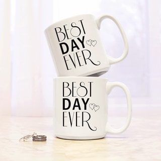 Best Day Ever Large Coffee Mugs (Set of 2)