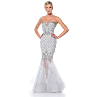 Terani Couture Pageant Sweetheart Gown with Trumpet Skirt