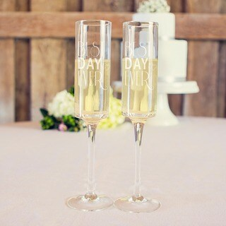 Best Day Ever 8-ounce Contemporary Champagne Flutes (Set of 2)