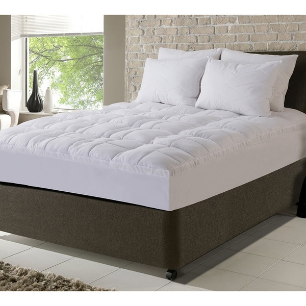 Fusion Embossed Peached Waterproof Mattress Pad with Scotchgard Treatment