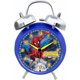 Marvel Spiderman Quartz Analog Twin Bell Alarm Clock