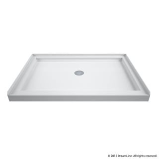 DreamLine SlimLine 34 x 48-inch Single Threshold Shower Base Center Drain Base