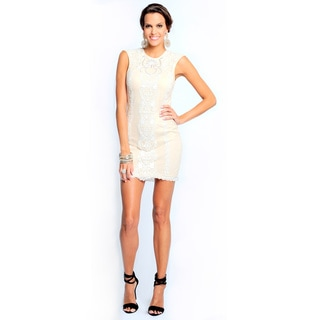 Sara Boo Women's Off-white Embroidery Dress