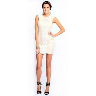 Sara Boo Women's Off-white Embroidery Dress