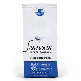 Sessions 50-percent Half Caf Whole Bean Coffee