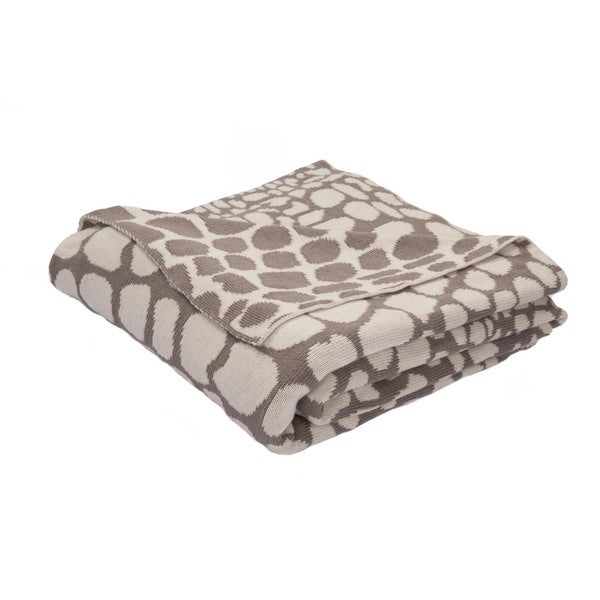 "Taupe/Ivory Cotton Throw - (50""x60"")"