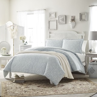 Stone Cottage Ava Soft Blue 3-piece Comforter Set