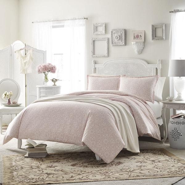 Stone Cottage Ava Pink 3-piece Duvet Cover Set