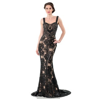 Terani Couture Long Lace Evening Gown