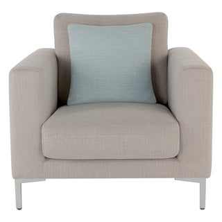 Safavieh Couture High Line Collection Huddson Pine Light Grey Chair