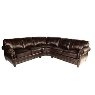 Lazzaro Leather Anna Pull Up Buckeye Sectional Sofa