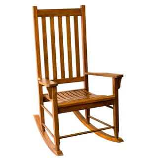 Traditional Wooden Rocking Chair - Oak Finish