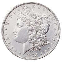 "American Coin Treasures 1878S ""First-Year-of-Issue"" Morgan Silver Dollar Graded MS60 Uncirculated"