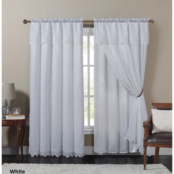 Shop VCNY Paige Embroidered Curtain Panel With Attached