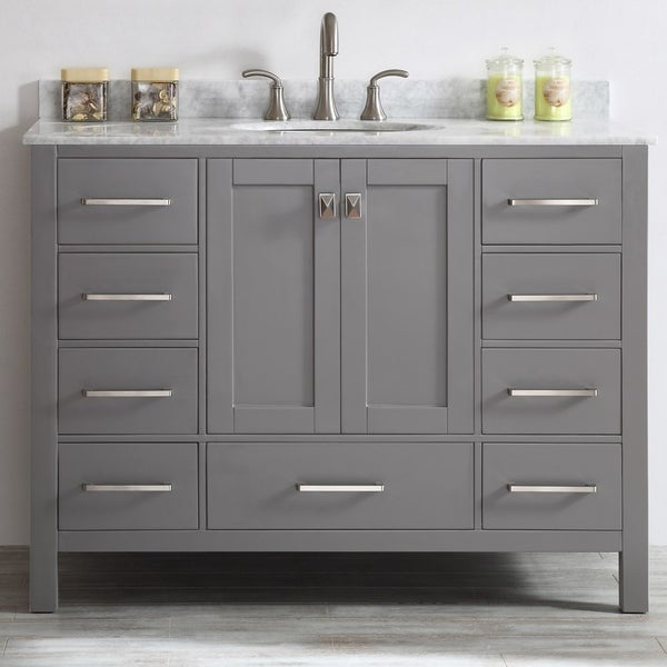 Shop Vinnova Gela 48 Inch Single Vanity In Grey With