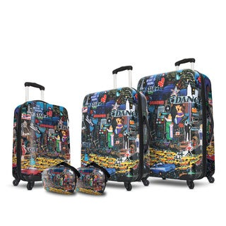 Visionair Broadway Nights 5-piece Fashion Hardside Spinner Luggage Set