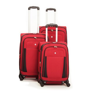 Bags West Lake 3-piece Expandable Spinner Upright Luggage Set (2 options available)