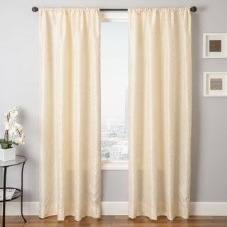 Abadan Pintuck Rod Pocket Curtain Panel