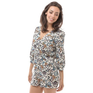Soho Apparel Women's 3/4 Sleeve Short V-Neck Rompers