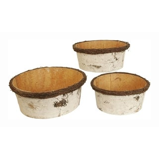 Wald Imports Birch Bark Bowl - Set of 3