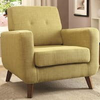 Marina Mid-century Design Green Upholstered Accent Chair