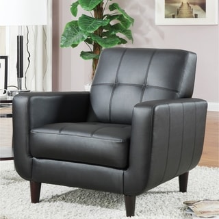Marina Mid-century Design Black Upholstered Accent Chair