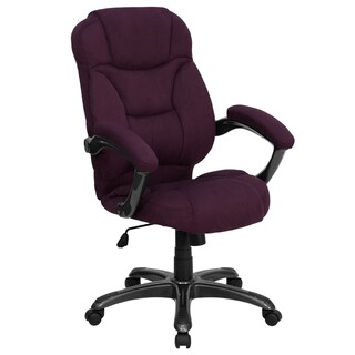 Madrid Executive Purple Microfiber Adjustable Swivel Office Chair with Padded Arms