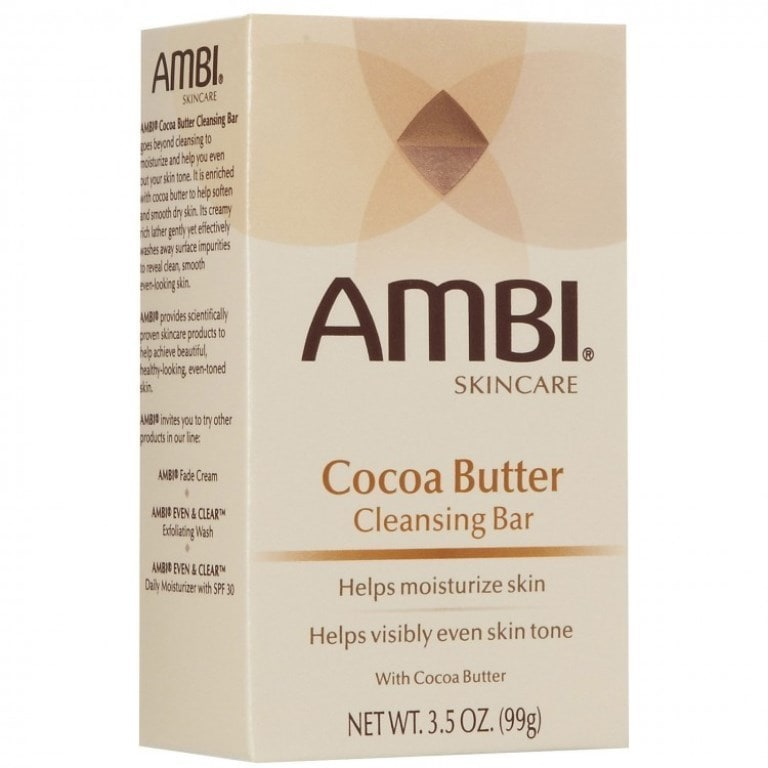 Ambi Skin Care Cocoa Butter (Yellow) Cleasning Bar (3.5oz)