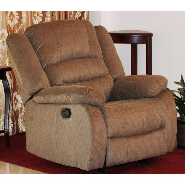 Shop contemporary fabric rocking recliner chair free - Fabric rocking chairs living room ...
