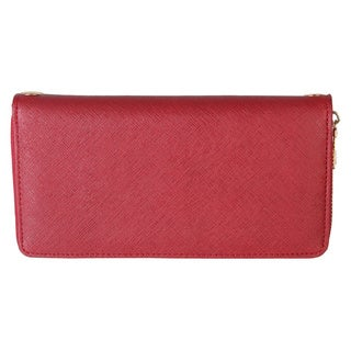 Rimen & Co. Saffiano Faux Leather Zip Around Wallet