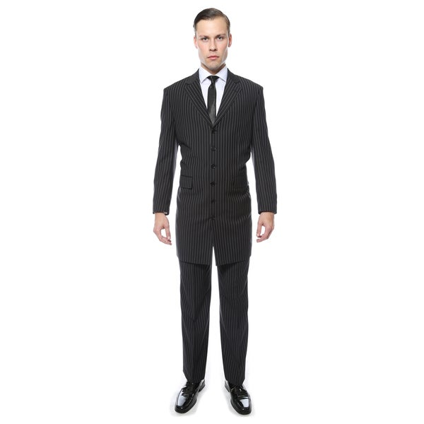 Ferrecci Men\'s Wide Lapel Regular Fit Pinstripe 2-Piece Zoot Suit ...