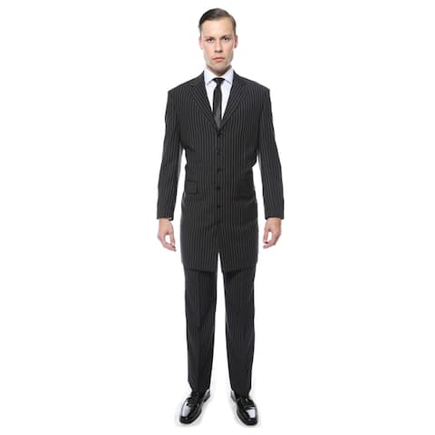 Ferrecci Men's Wide Lapel Regular Fit Pinstripe 2-Piece Zoot Suit