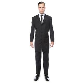 Ferrecci Men's Wide Lapel Regular Fit Pinstripe 2-Piece Zoot Suit