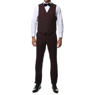 Ferrecci Zonettie 3-Piece Peak Lapel Vested Slim Fit Tuxedo