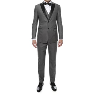 Ferrecci Zonettie 3-Piece Peak Lapel Vested Slim Fit Tuxedo